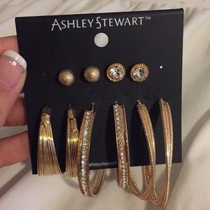 NWT Ashley Stewart set of earrings